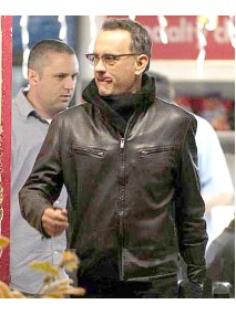 Tom Hanks Film Larry Crowne Black Leather Jacket