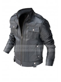 Tom Ryan Butterfly On Wheel Pierce Brosnan Leather Jacket
