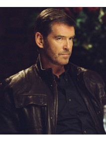 Tom Ryan Shattered Pierce Brosnan Leather Jacket