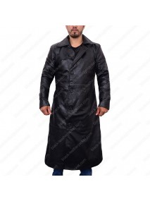 Total Recall Colin Farrell Trench Leather Coat