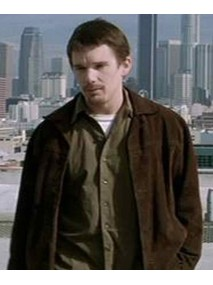 Training Day Ethan Hawke Brown Suede Jacket