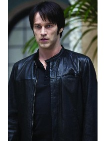 True Blood Season 2 Bill Compton Leather Jacket