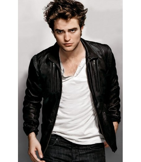 Edward Cullen Twilight Robert Pattinson Leather Jacket