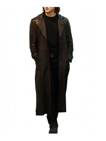 The Vampire Academy Dimitri Belikov Brown Leather Trench Coat