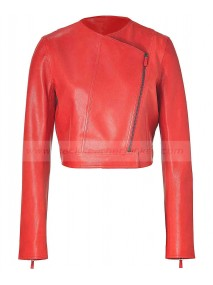 Vanessa Bruno Red Leather Jacket Womens