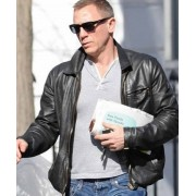Vanity Fair Cover Daniel Craig Black Leather Jacket