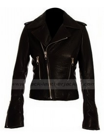 Victoria Beckham Black Leather Jacket