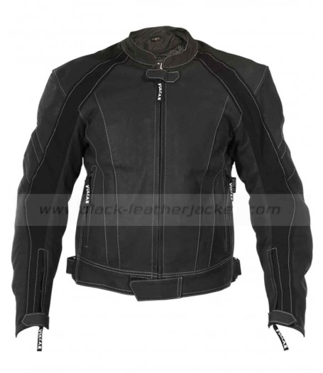 Vulcan Armored Leather Motorcycle Jacket for Mens