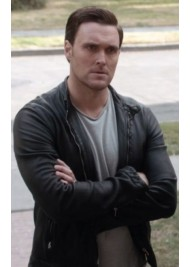 Wayne Rigsby The Mentalist Owain Yeoman Black Leather Jacket