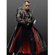 Wesley Snipes Blade Trench Leather Coat