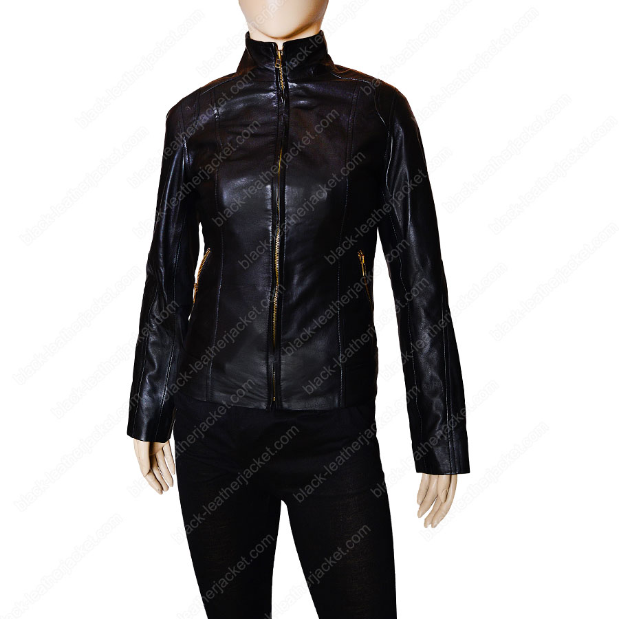 Womens Black Motorcycle Jacket | Lambskin Leather Jacket