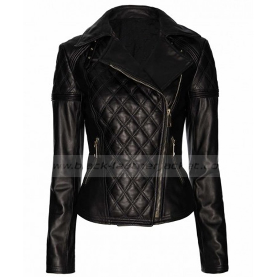 Ladies Quilted Biker Jacket | Designer Womens Black Leather Jacket : leather quilted biker jacket - Adamdwight.com