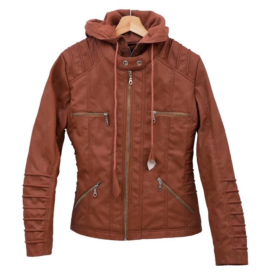womens brown faux leather jacket | Gommap Blog