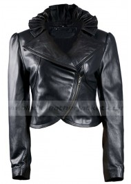 New Look Designer Black Leather Biker Jacket for Womens