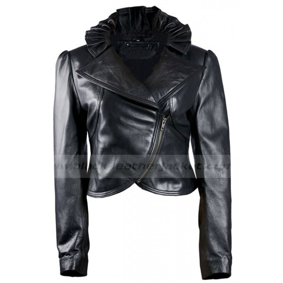 Designer Leather Jacket | Womens Black Biker Jacket