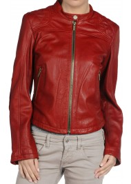 Women's Red Hot Leather Jacket