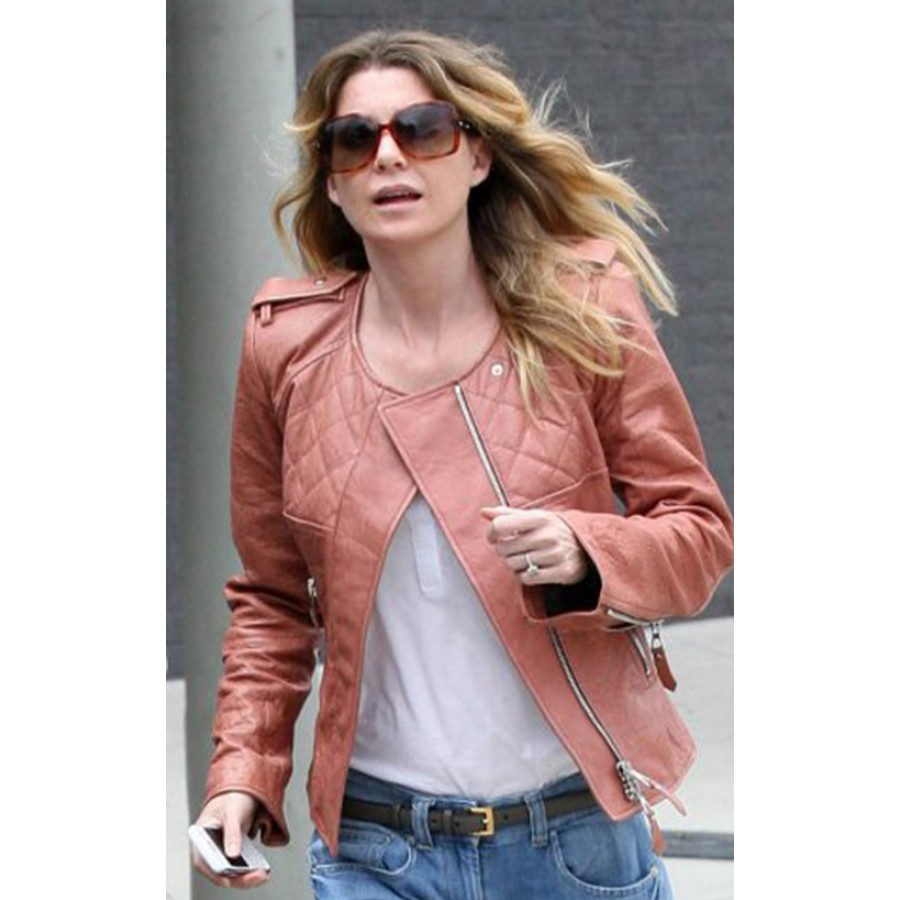 Ellen Pompeo Jacket | Womens Tan Leather Jacket