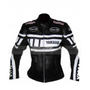 Womens Yamaha Leather Motorcycle Jacket