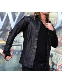 World War Z Premiere Brad Pitt Leather Jacket