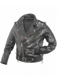 WWE Triple H Black Leather Motorcycle Jacket
