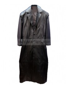 WWE The Undertaker Black Leather Trench Coat