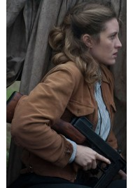Evelyne Brochu X Company Aurora Luft Brown Suede Jacket