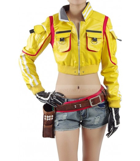 Final Fantasy XV Cindy Yellow Leather Jacket