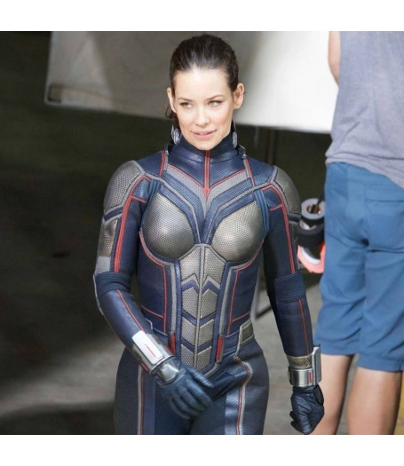 Ant-Man and The Wasp Leather Evangeline Lilly Jacket
