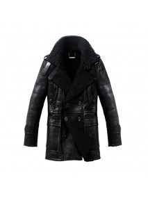 Mens Sheepskin B3 Short Leather Coat