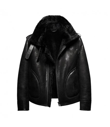 Mens B3 Pilot Shearling Leather Jacket