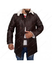 Faux Leather Bane The Dark Knight Rises Coat