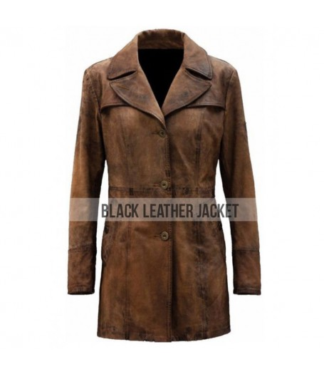 Batman Knightmare Brown Leather Trench Coat