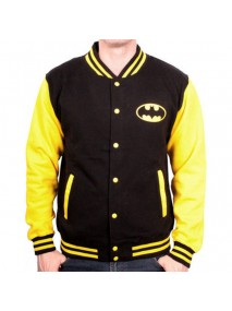 Batman Black And Yellow Letterman Jacket