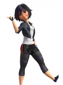Big Hero 6 Gogo Cropped Leather Jacket