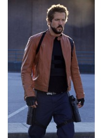 Blade Trinity Ryan Reynolds Brown Leather Jacket