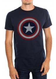 Captain America Shield Symbol Blue T-Shirt