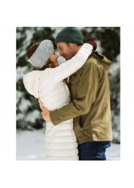 Christmas in the Rockies White Puffer Coat