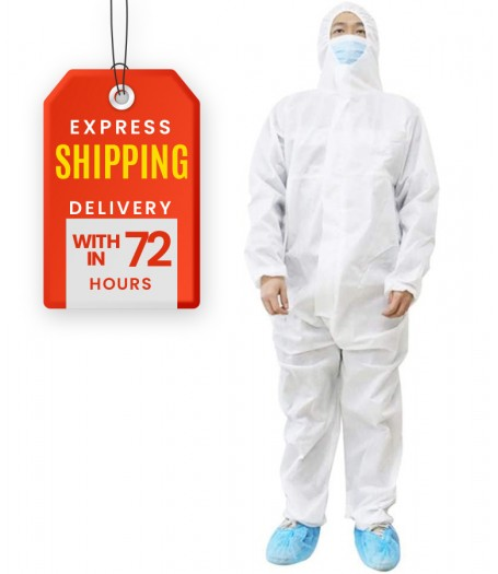 COVID-19 Protective White Suit