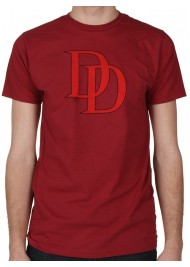 Red Logo Daredevil Maroon T-Shirt