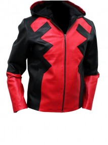 Deadpool Hooded Leather Jacket
