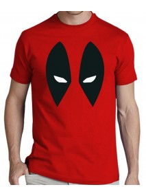 Deadpool Eyes Logo Red T-Shirt