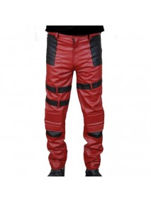 Deadpool Red Leather Pant