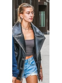 Hailey Bieber Double Breasted Jacket