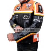 Biker Harley Davidson and The Marlboro Man Leather Jacket with Patches