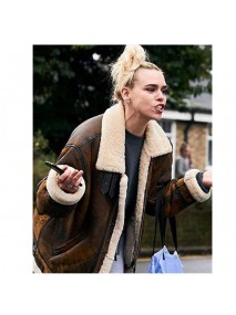 I Hate Suzie Billie Piper Brown Leather Jacket