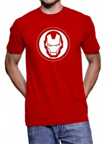 Iron Man White Logo Red T-Shirt