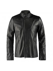 Robert Downey Jr. Iron Man 2 Black Leather Jacket