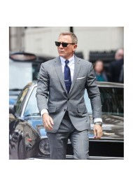 James Bond No Time To Die Grey Suit