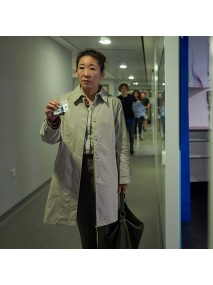 Sandra Oh Killing Eve Cotton Coat
