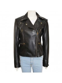 Lucifer Comedy Series Lauren German Chloe Decker Black Biker Leather Jacket